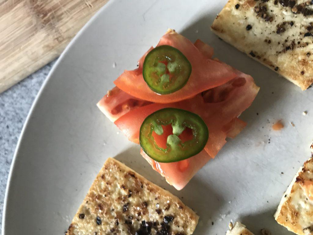 Recette Toast Tofu Tomates Perdre du Poids Facile La Methode Tunzini Tomate Tofu Piment